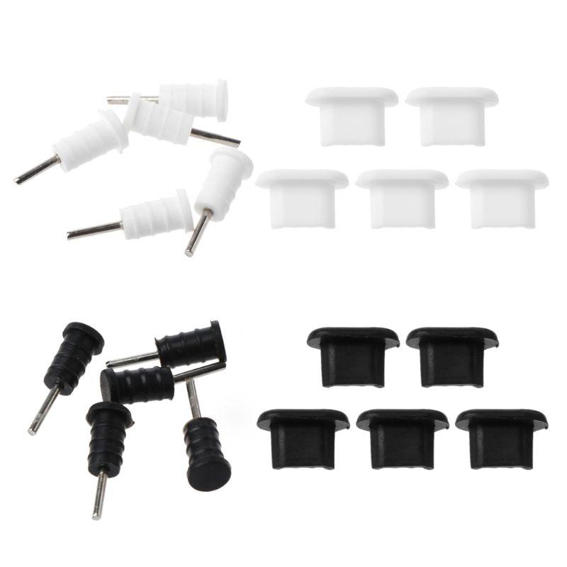 10 комплектов, защита штекера Micro USB, 3,5 мм, наушники, наборы, пылезащитный инструмент, поддержка SIM-карты, для смартфона