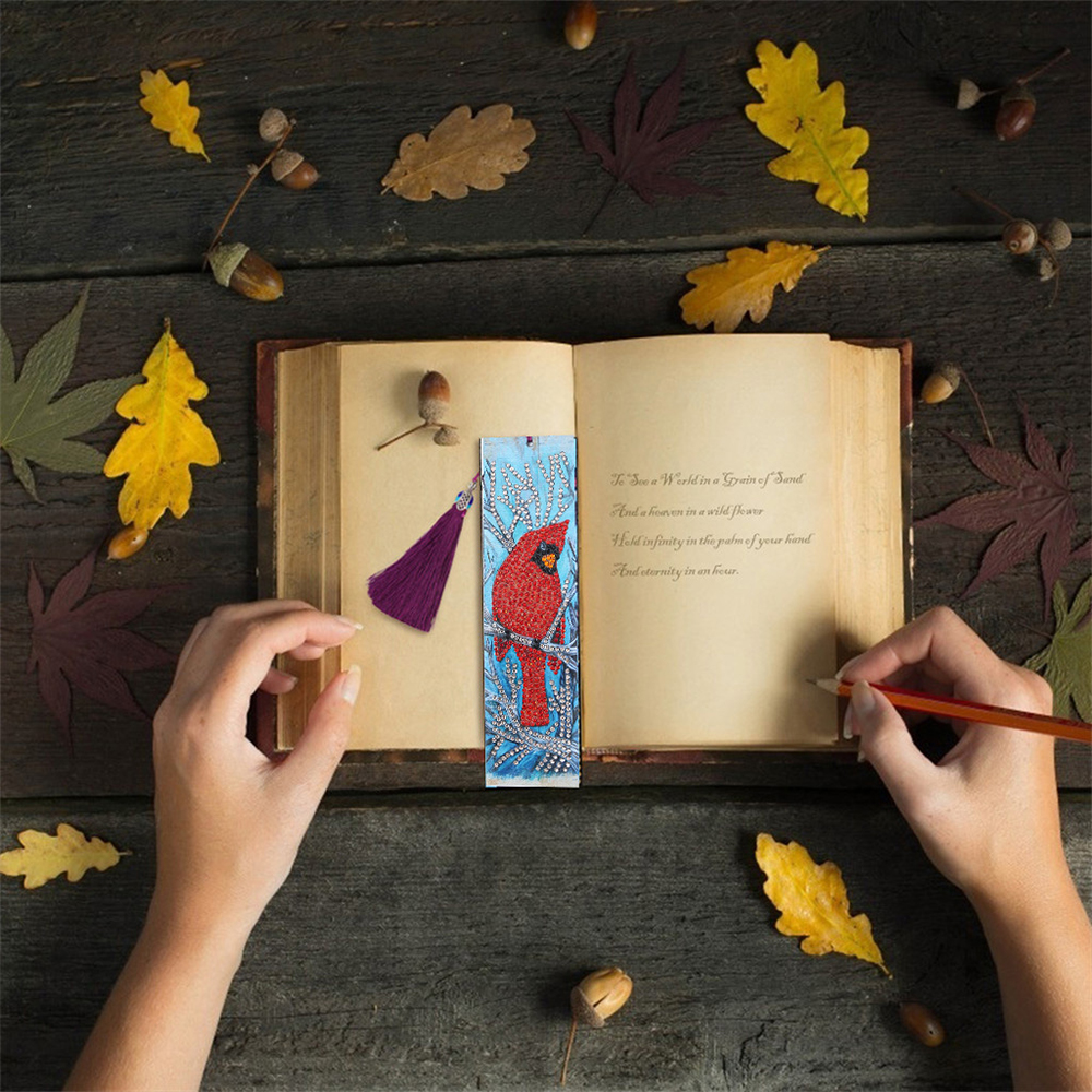 Hot Deal 9a7e9 5d Diy Diamond Painting Leather Bookmark With