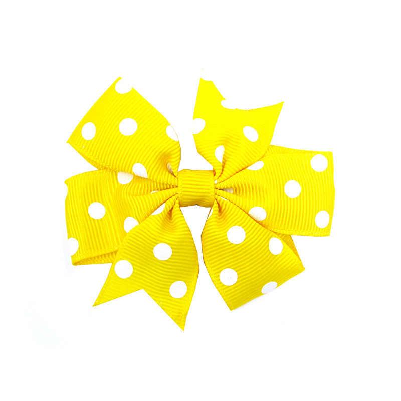 1pc Dot Haar Clip Frische Nette Baby Mädchen Bunte Bogen Knoten Haar Clips Party Haarschmuck Ornament Für Frauen stirnband Neue 2020