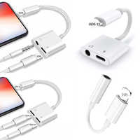 2 in 1 Earphone Jack Adapter For Apple iPhone 11 pro max 7 8 Plus x xr xs max IOS 12 3.5mm Jack converter Aux Cable Splitter
