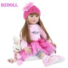 Muñeca de juguete Reborn de silicona de 60cm, Princesa de vinilo realista para niños pequeños, regalo de cumpleaños para niñas, Boneca, Brinquedo
