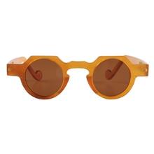 Handmade Wide Round Coffee Horn Optical Reading Glasses Spectacle Eyeglasses Eyewear Frame Sunglasses