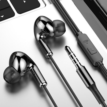 New Sport Earphone Wired Headphones Super Bass Stereo 3.5mm gaming Headset In-Ear Earbud with Microphone Hands Free for Xiaomi