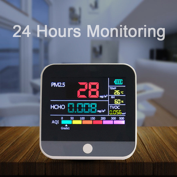 PM2.5 Detector Thermometer Hygrometer Gas Analyzer Household Digital Formaldeyde Detector HCHO TVOC Gas Air Quality Monitor pm2 5 tvoc hcho 3 5 inch lcd digital air quality monitor laser detector tester gas monitor for car office living room