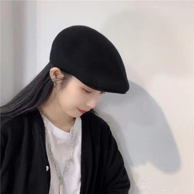 202108-jx new autumn winter  Knitted wool solid  leisure lady  Forward hat men women  visors cap