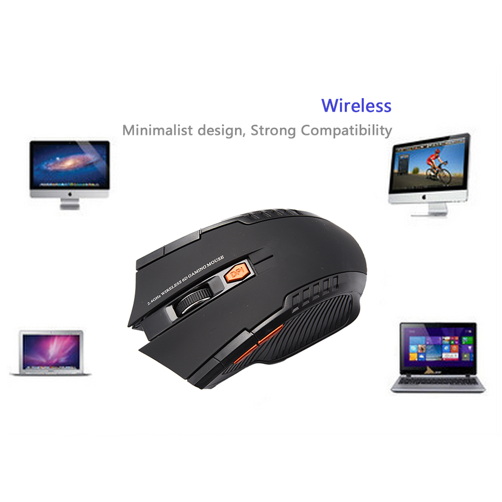 Mini 2.4G Wireless Optical Mouse New Game Wireless Mouse Receiver With USB Interface For Notebooks Desktop Computers