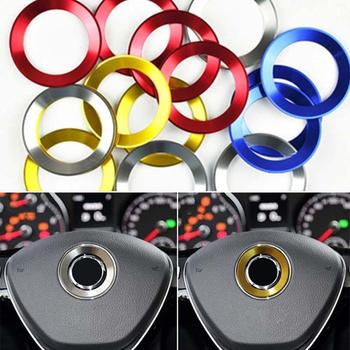 Car Styling Steering Wheel Logo Emblems Ring Decoration Sticker for Volkswagen VW Passat B7 B8 Bora GOLF 6 7 MK6 RS image