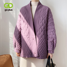 Woman Jacket Coat Parkas GOPLUS White-Duck-Down Purple Winter Mujer No Argyle Vintage