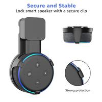 PlusAcc Outlet Wall Mount Stand Hanger for Amazon Alexa Echo Dot 3rd Gen Work For Amazon Echo Dot 3 Holder Case Plug In Bedroom