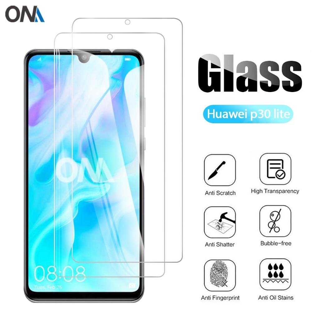 2 sztuk szkło hartowane dla Huawei P30 lite szklany ochraniacz ekranu 2.5D 9H szkło hartowane dla Huawei P30 lite 6.15 folia ochronna