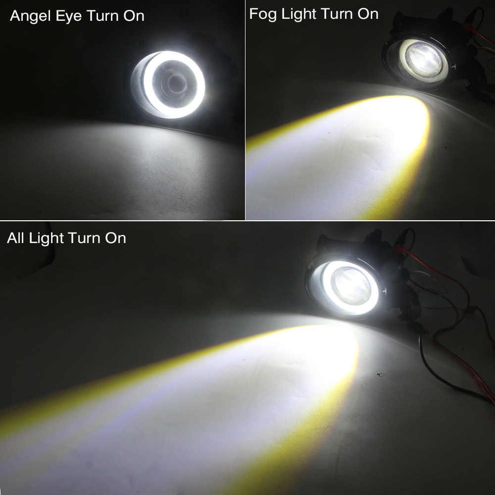 Cawanerl לניסן Elgrand 2002 רכב H11 LED ערפל אור מלאך העין DRL בשעות היום ריצת אור 30W 3000LM לבן 12V 2 חתיכות