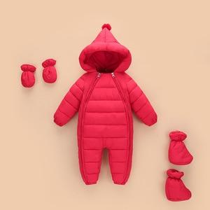 Image 2 - 3 uds. Ropa de Otoño Invierno para recién nacidos, chaqueta de plumas para bebés, niños y niñas, abrigo cálido para escalar, peleles gruesos para niños, prendas de vestir exteriores