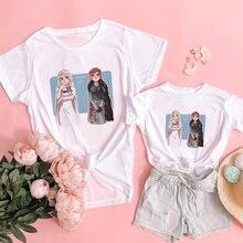 Семейные одинаковые наряды футболка для мамы ребенка девочки