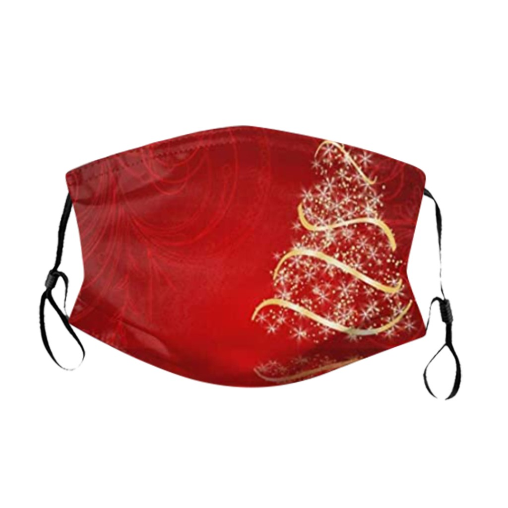 1 шт. маска + 2 фильтра моющаяся многоразовая маска для лица из полиэстера модная Рождественская дизайнерская Маска Для Взрослых Маска для рт...