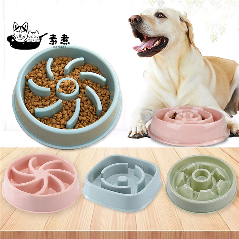 Cão de estimação comida tigelas alimentador lento banho suprimentos para animais de estimação filhote de cachorro lento comer alimentador prato tigela evitar obesidade acessórios para animais de estimação