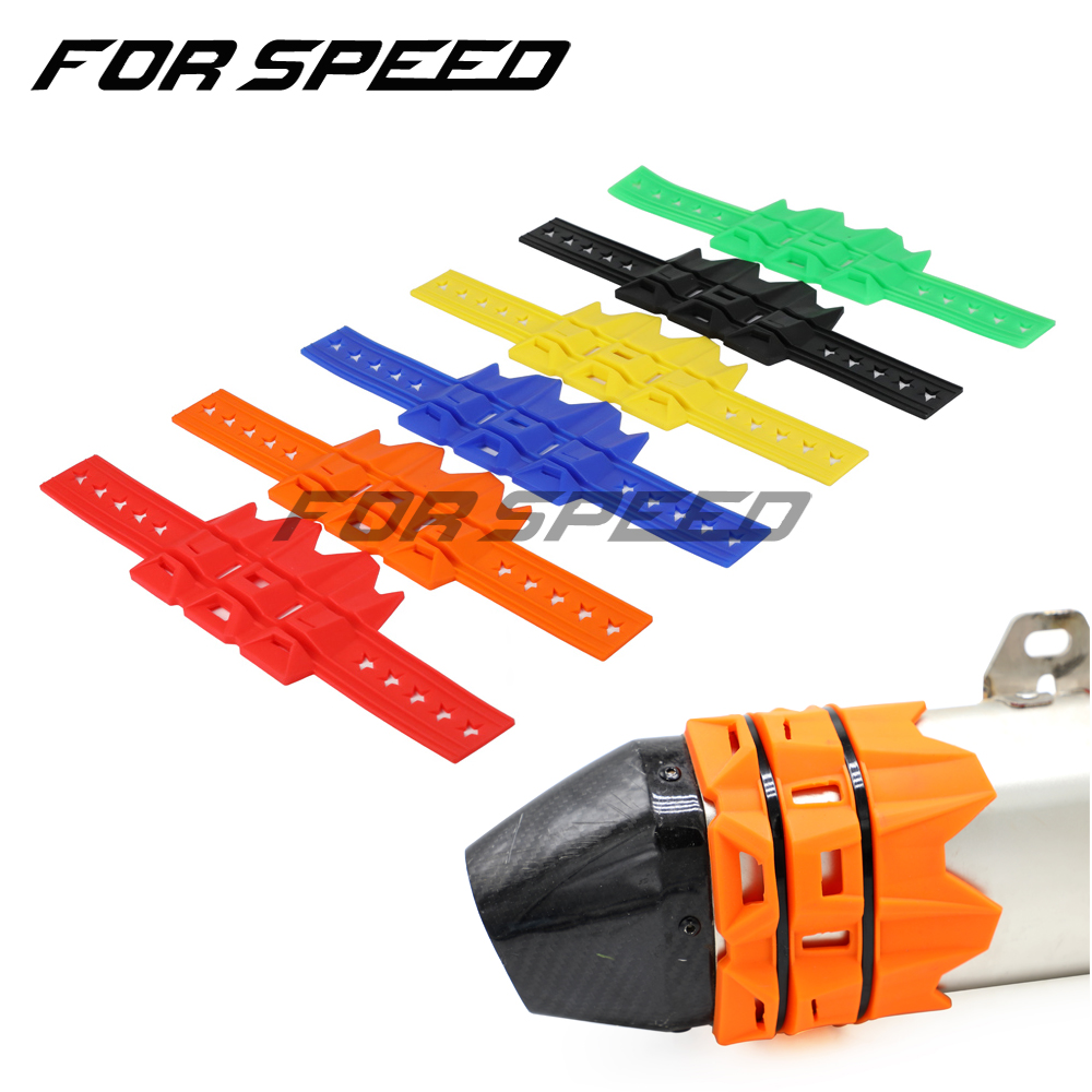 Universal  MX Exhaust Cover Escape Muffler Silencer Protector Guard for Exc Crf 230 Dirt Bike Parts Enduro Motocross