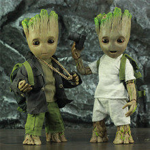 Life Size 1:1 Tree Man 25CM Action Figure Galaxy Guardians Avenger Legends Cute Baby Young BJD KOs HT Hot Toys Doll Model