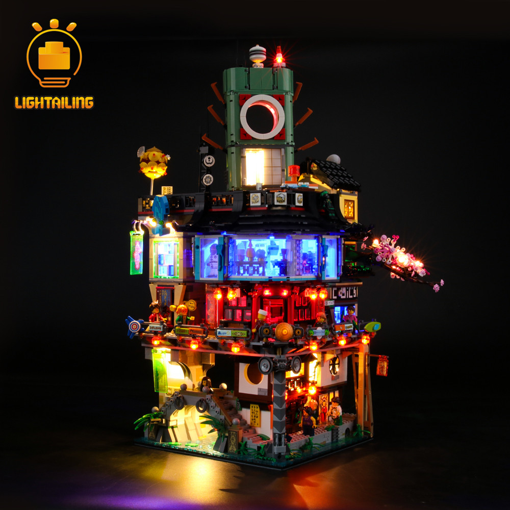 LIGHTAILING LED Light Kit For 70620 Ninja City Lighting Set Compatible With 06066 (NOT Include The Model)