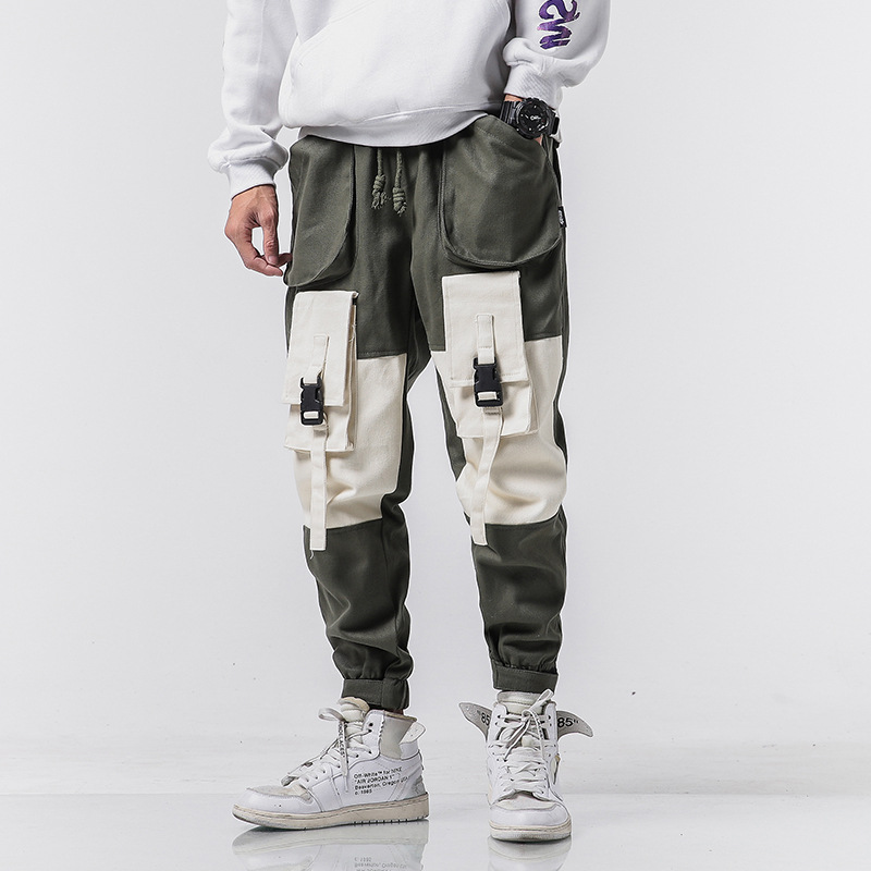 Bib Overall Men's 2019 Spring Trend New Style Japanese-style Students Cool Versatile Loose Casual Sports Pants