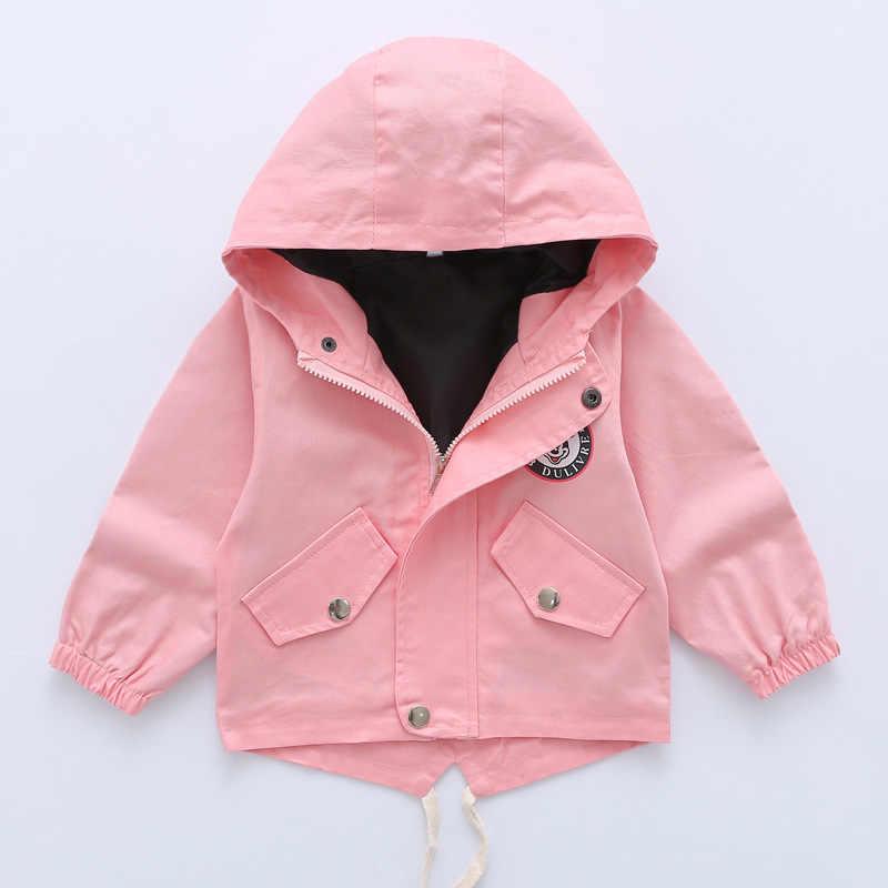 2020 חדש בנות מעילי ילדים להאריך ימים יותר ברדס מעיל סתיו בנים מקרית מעיל רוח מעיל תינוק ילדים בגדי Enfant