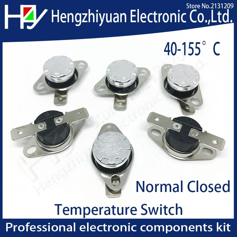 KSD301 250V 10A Normal Closed Open Temperature Switch Thermal Control 40C 50C 70C 80C 90C 100C 120C 130C 140C  150C Centigrade