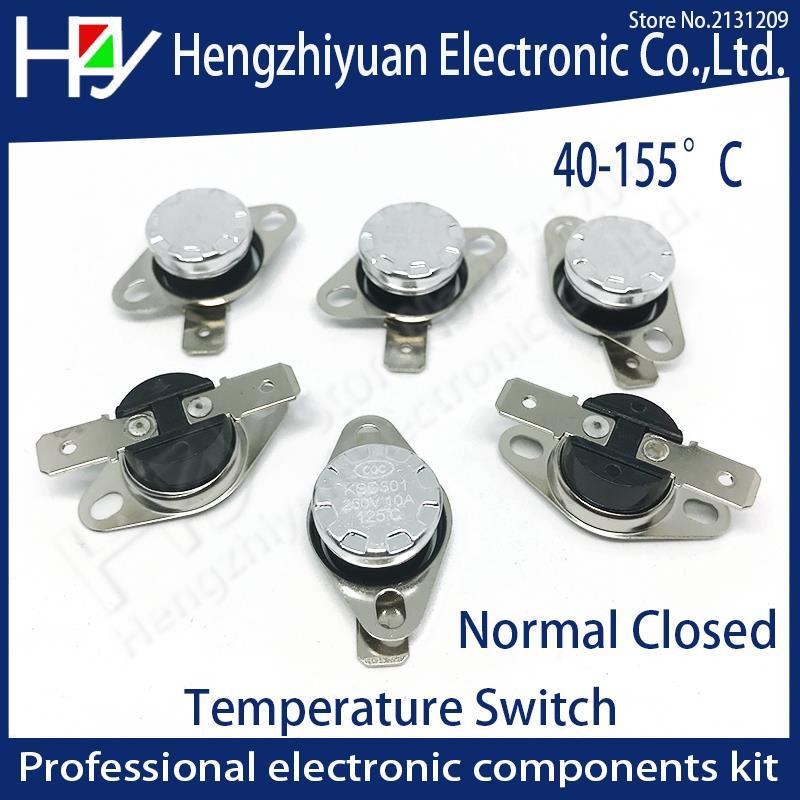KSD301 250V 10A Normal Closed Open Temperature Switch Thermal Control 40C 50C 70C 80C 90C 100C 120C 130C 140C  150C Centigrade