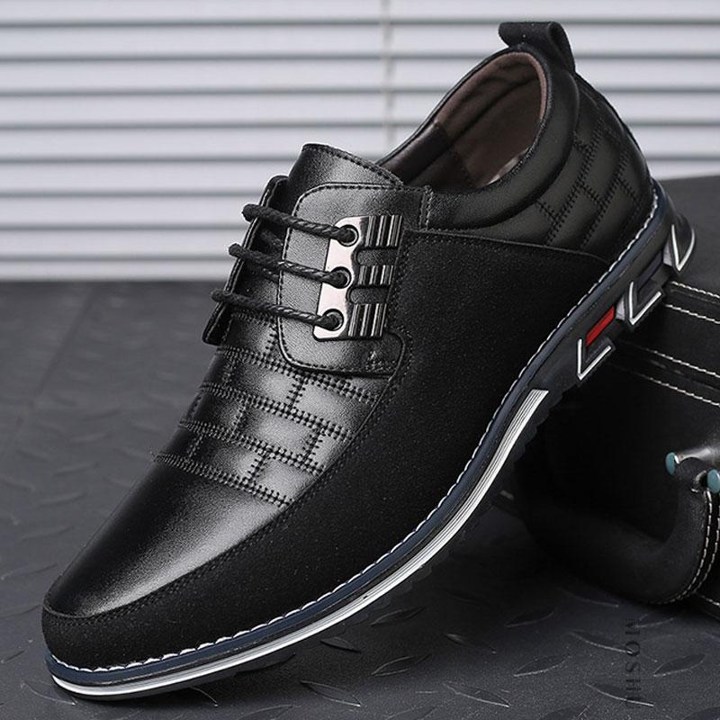 2020 New Leather Shoes Men's Casual Shoes Men's Breathable Non-slip Sports Shoes Men's Shoes Leather Men's ShoesZH100503