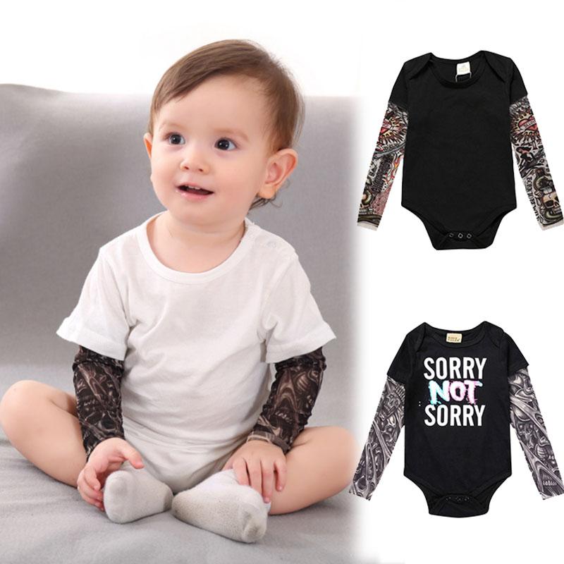 Baby-Boy-Tattoo-Printed-Patchwork-Cotton-Rock-Romper-Spring-Autumn-Newborn-Jumpsuit-Stitch-Halloween-Christmas-Costume