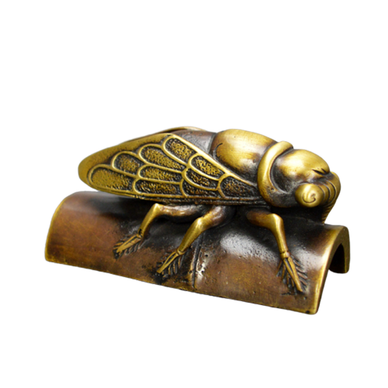 Creative Metal Paperweight Lovely Cicada Paper Weight Chinese Calligraphy Bronze Paperweights Living/Study Room Decoration