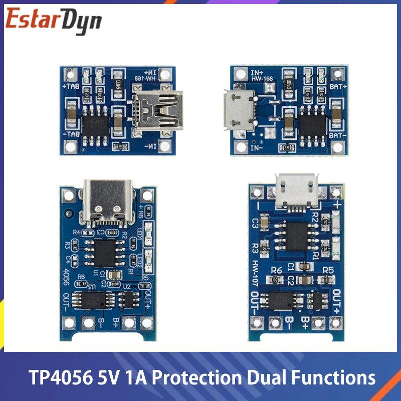 Micro USB 5V 1A 18650 TP4056 модуль зарядного устройства литиевой батареи зарядная плата с защитой и двумя функциями 1A li-ion