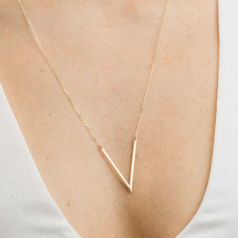 Colar com pingente triângulo, presente para dia dos namorados, casamento, damas de honra, aniversário, 1 peça