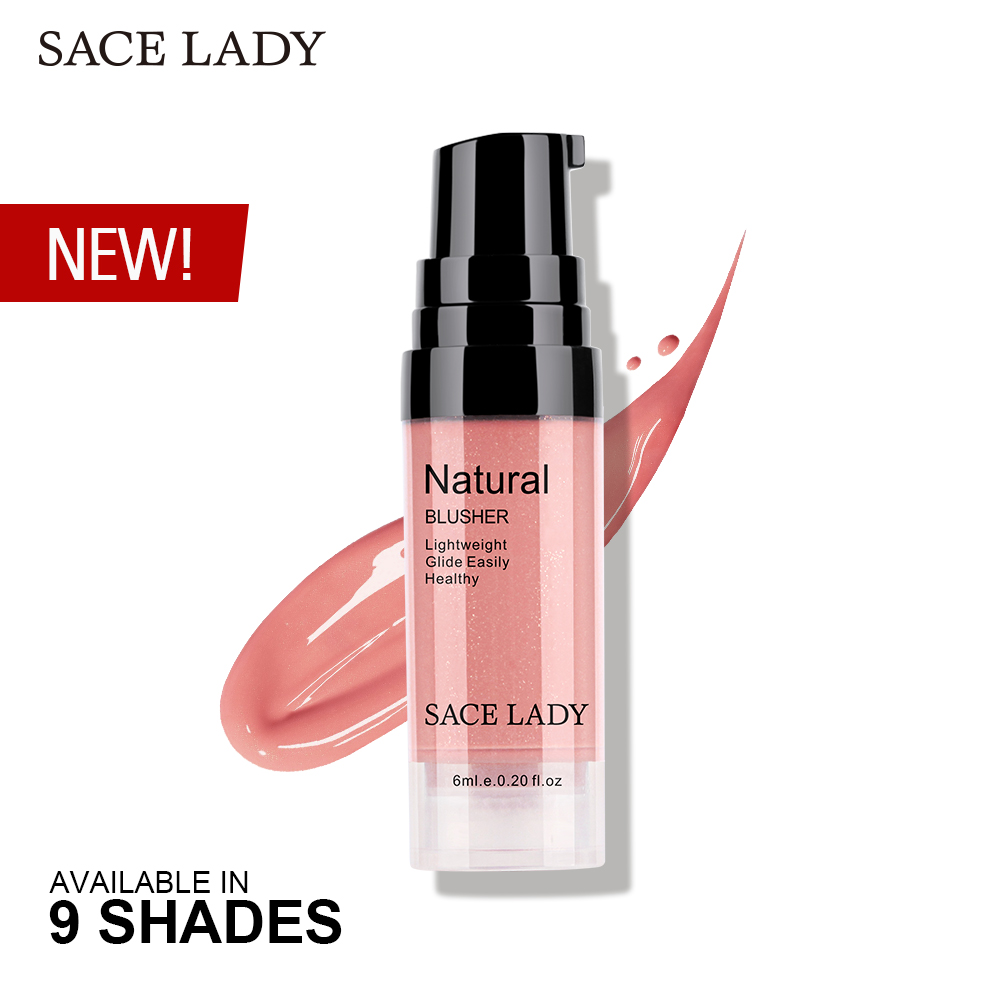 SACE LADY 9 Colors Liquid Blush Makeup Face Rouge Long Lasting Make Up Professional Natural Cheek Blusher Face Blusher Cosmetic