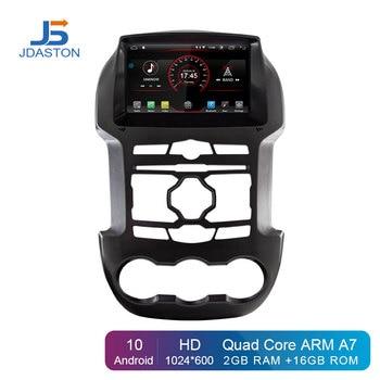 JDASTON Android 10 Car DVD Player For Ford Ranger F250 2011 2012 2013 2014 2015 GPS Navigation 2Din Car Radio Stereo Multimedia