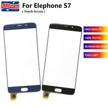 """5.5 """"עבור Elephone S7 מסך מגע זכוכית Digitizer פנל מסך מגע חיישן עבור Elephone S7 טלפון סלולרי קדמי זכוכית חיצונית פנל"""