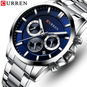 Image 1 - New Watches Men Top Brand CURREN  Luxury Quartz Watch Mens Casual Military Wristwatch Stainless Steel Clock with Chronograph