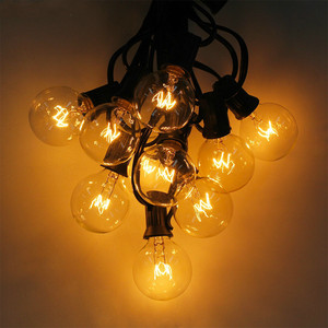 Image 1 - 25Ft G40 Bulb Waterproof String Lights with 25 Clear Bulb Backyard Patio Lights Vintage Bulbs Decorative Outdoor Garland Wedding