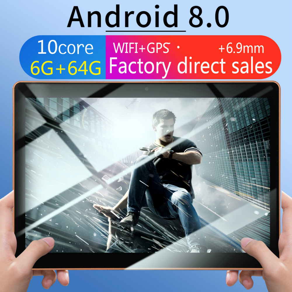2020 New 10 Inch Ten Core 6G + 64G /128G Android 8.0 Dual Card Dual Camera Rear WiFi 4G Call Mobile Phone Tablet WiFi Call