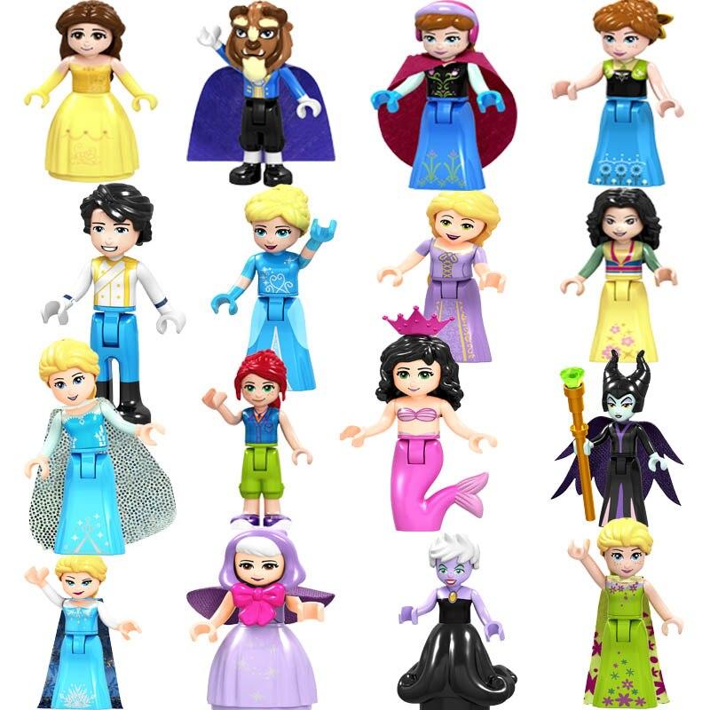 2020 LegoingS Friends Figure Girls Princess Olivia Mia Kate Stephanie Aisha Anna Emma Andrea Building Blocks Toys For Children