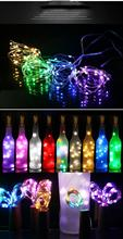 Cork wine bottle lamp 1m/2m DIY LED chain with cap decoration Christmas holiday party lighting