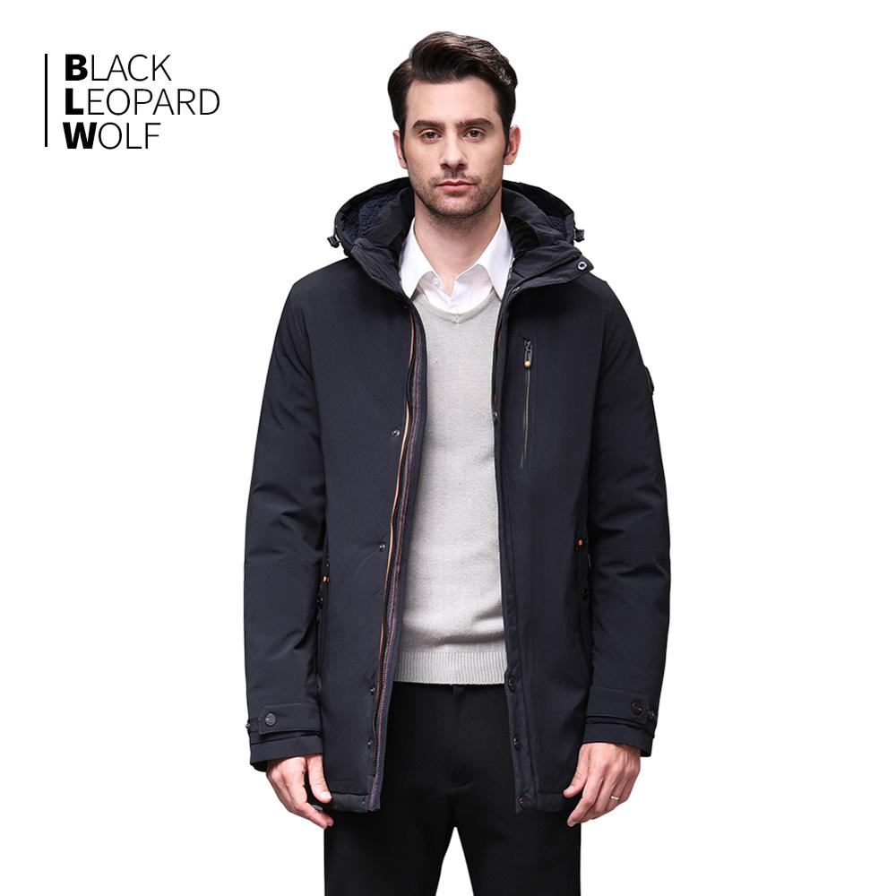 Blackleopardwolf 2019 New Arrival Winter Jacket Men's Coat Thik Parka Alaska Windproof Detachable Outwear Luxury Outwear BL-1002