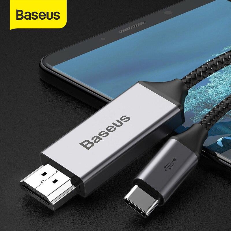 Baseus Usb C Hdmi Kabel 4K 60Hz Type C Naar Hdmi Extension Adapter Kabel Voor Huawei P30 P40 pro Samsung S20 S10 S9 Oneplus 7
