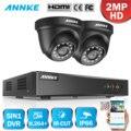 ANNKE 44ch 1080P система видеонаблюдения 55555555555555555555510101010101010101010101010n H.264 + DVR с 2X 4X TVI Smart IR DOME