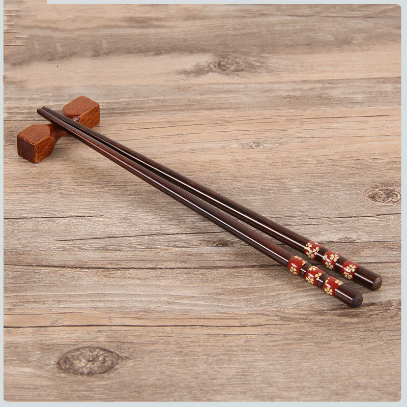 5 pairs creative natural handmade wood chopstick gift tableware