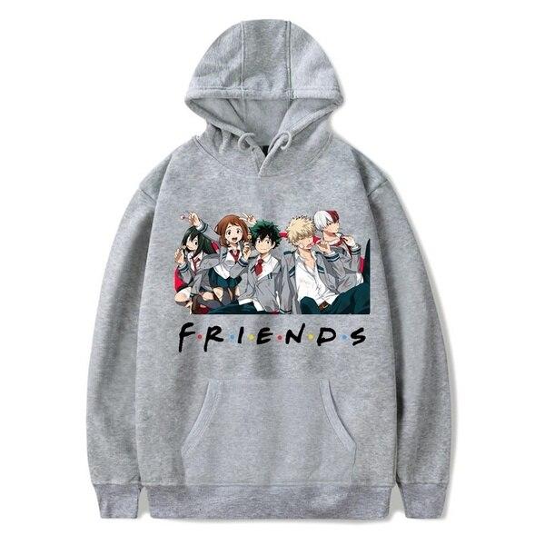 Friends Oversized Hoodie Sweatshirt Women Men My Hero Academia Friends Polerone Bluza Damska Korean Clothe Streetwear Sweatshirt 3