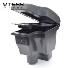 Vtear-reposabrazos de cuero para Mazda CX-3 CX 3 CX3, caja de almacenamiento, decoración, consola central, accesorios, 2018