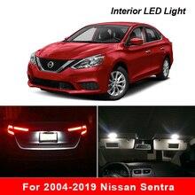 Für 2004 2019 Nissan Sentra Weiß auto zubehör Canbus Fehler Free LED Innen Licht Lesen Licht Kit Karte Dome lizenz Lampe