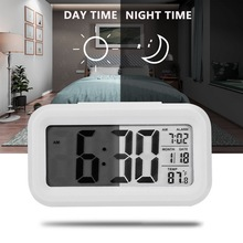 minie Alarm Clock LED Digital Alarm Clock Backlight Display+Temperature Calendar Snooze Function Clocks for Home Office Travel