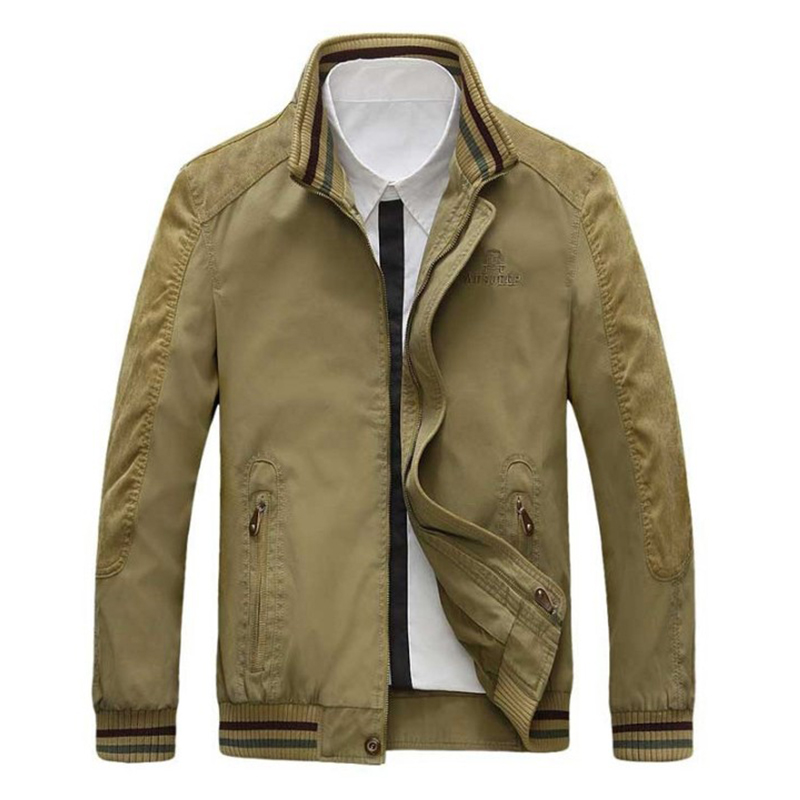 Men Jacket Plus Size 5XL Military Jacket Men Casual Coats Black Army Green Khaki Jacket Cotton Fashion Winter Jacket Men