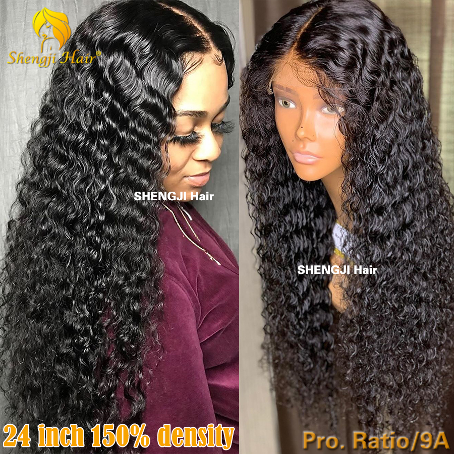 13x6 Glueless Lace Front Human Hair Wigs Pre Plucked With Baby Hair Shengji Remy Hair Fake Scalp Brazilian Curly Lace Front Wig
