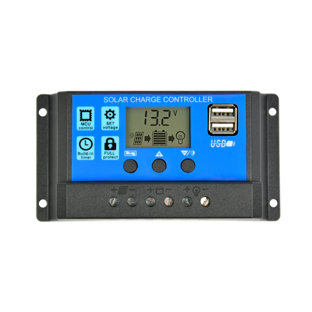 Solar Charge Controller 12V 24V 30A Automatic Panel Universal USB 5V Charging LCD Display